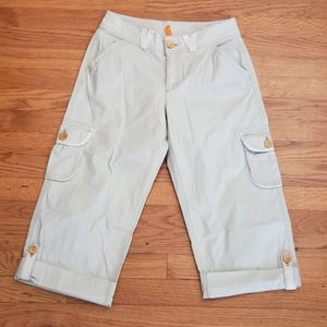 LUCY Active Pants Stretchy KHAKI CARGO Loose XS